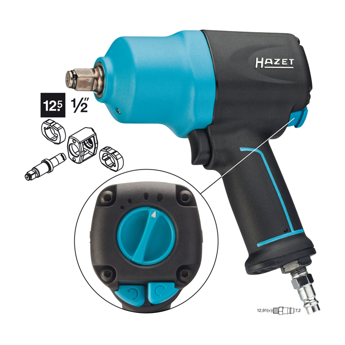 hazet 9012el spc impact wrench loosening torque max 1700 nm. Black Bedroom Furniture Sets. Home Design Ideas