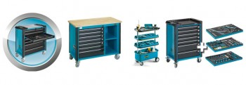 Tool trolley, - accessories and with assortments