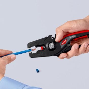 KNIPEX 12 52 195 Self-Adjusting insulation stripper PreciStrip16, 195 mm