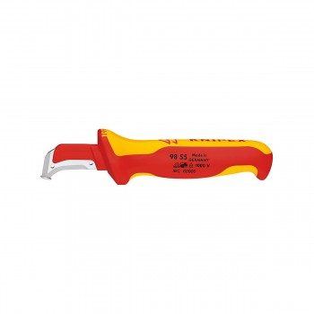KNIPEX 98 55 Dismantling knife with guide shoe, 180mm