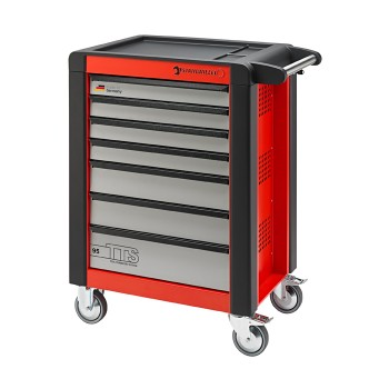Stahlwille 81200016 Tool trolley 95/7R TTS red, with 7 drawers
