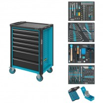 HAZET 179N-7/220 Tool trolley with tool assortment, 220pcs.