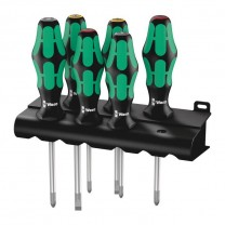 Wera 335/350/355/6 Screwdriver set Kraftform Plus Lasertip and rack (05105622001)