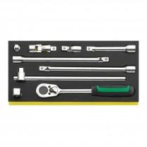 "Stahlwille 96838175 Drive tool set TCS 1/2""-512/9, 9pcs."