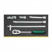 "Stahlwille 96838175 Drive tool set TCS 1/2""-512/6, 6pcs."