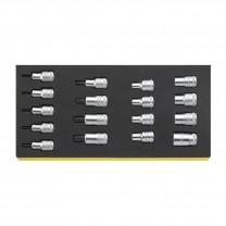 Stahlwille 96838763 TORX®-Socket set TCS 50TX/54TX/17, 17pcs.