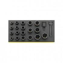 Stahlwille 96838791 Impact socket set TCS 50IMP/19/2, 21pcs.
