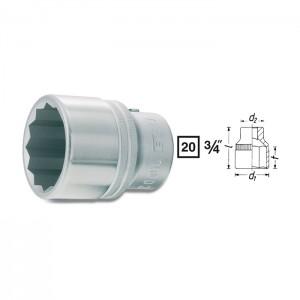HAZET 12point socket 1000Z, size 22 - 55 mm