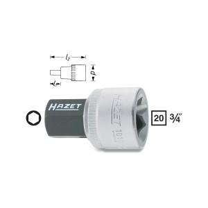 HAZET Screwdriver socket, size 14 - 22 mm