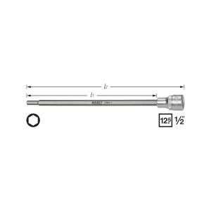 HAZET 2584-1 Screwdriver socket, size 6 mm