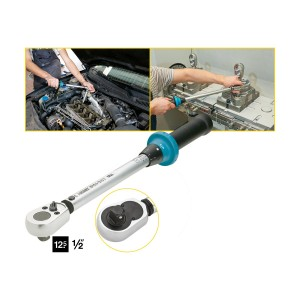 HAZET 5121-2CT Torque wrench with ratchet, 20 - 120 Nm