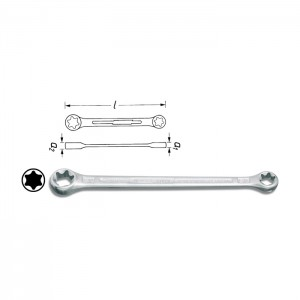 HAZET TORX®-Double box-end wrench 609, size E6 x E8 - E20 x E24