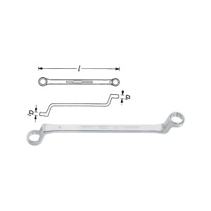 HAZET 630-12x13 Double box-end wrench, size 12 x 13 mm