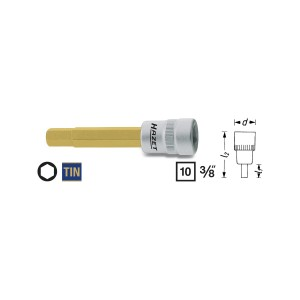 HAZET Screwdriver socket 8801, size 3 - 12 mm