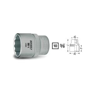 HAZET 6point socket 880A, size 1/4 - 15/16