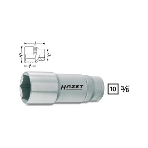 HAZET 880Lg-8 6point socket, size 8 mm