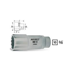 HAZET 12point socket 880TZ, sw 9 - 22 mm