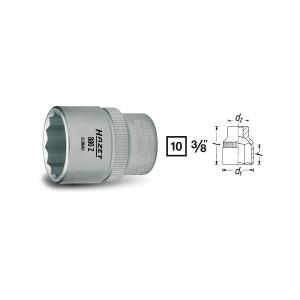 HAZET 12point socket 880Z, size 9 - 22 mm