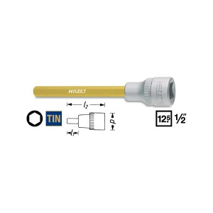 HAZET 986Lg-6 Screwdriver socket, size 6 mm
