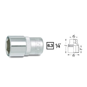 Hazet 850-14 6point socket, size 14 mm