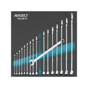 HAZET 163-98/17 Combination wrench set, 17pcs.