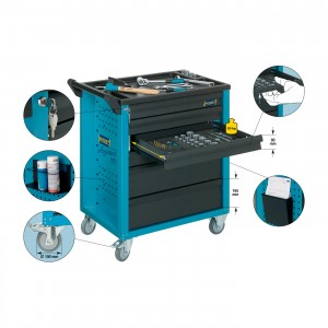 HAZET 177-7 Tool trolley Assistent® with 7 drawers