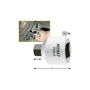HAZET 2584-8 Brake calliper screwdriver socket, size 8 mm