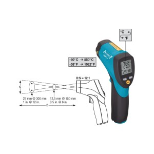 HAZET 1991-1 Non-contact infrared thermometer