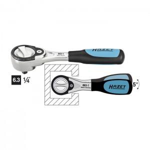 HAZET 863-1 Fine-tooth reversible ratchet, 119.0 mm