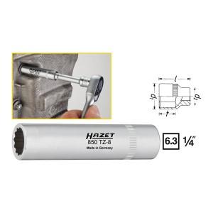 HAZET 850TZ-8 12point socket long, size 8 mm