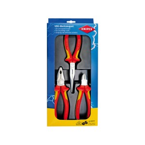 KNIPEX 00 20 12 Electro-set VDE, 3pcs.