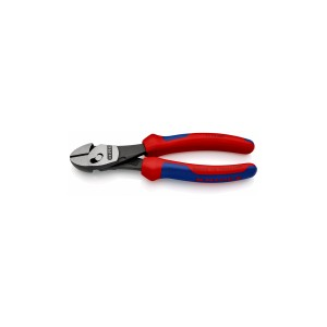KNIPEX 73 72 180 BK High-leverage TWIN FORCE Cutter, 180 mm