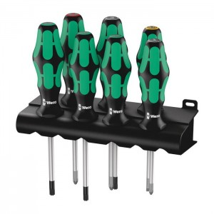 Wera 335/350/367/7 Rack screwdriver set Kraftform Plus Lasertip and rack (05320540001)