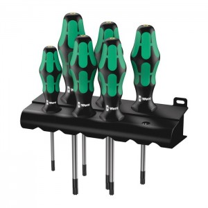 Wera 367/6 TORX® HF Kraftform Plus screwdriver set with holding function and rack (05028059001)