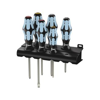 Wera 3334/3350/3355/6 Screwdriver set, stainless and rack (05032063001)