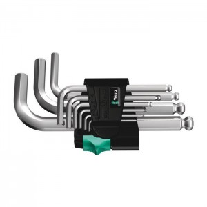 Wera 950/9  Hex-Plus 3 L-key set, metric, chrome-plated (05133163001)