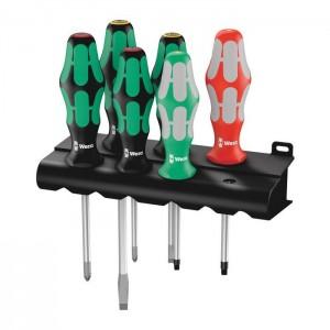 Wera 334/368/6 Screwdriver set and rack (05347778001)