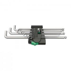 Wera 950/9 Hex-Plus 4 L-key set, metric, chrome-plated (05073594001)