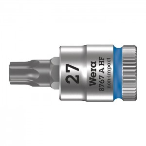 "Wera 8767 A HF TORX®  Zyklop bit socket with holding function, 1/4"" drive (05003367001)"