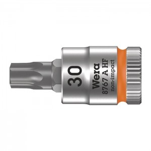 "Wera 8767 A HF TORX®  Zyklop bit socket with holding function, 1/4"" drive (05003369001)"