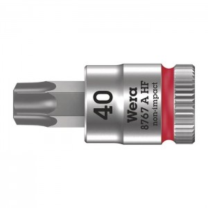 "Wera 8767 A HF TORX®  Zyklop bit socket with holding function, 1/4"" drive (05003371001)"