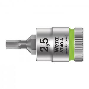 "Wera 8740 A Zyklop bit socket, 1/4"" drive (05003331001)"