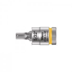 "Wera 8740 A HF Zyklop bit socket with holding function, 1/4"" drive (05003385001)"