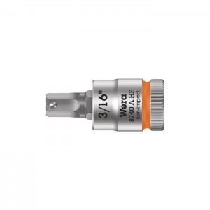 "Wera 8740 A HF Zyklop bit socket with holding function, 1/4"" drive (05003386001)"