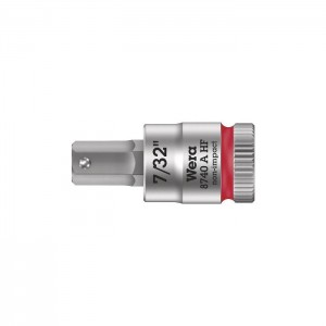 "Wera 8740 A HF Zyklop bit socket with holding function, 1/4"" drive (05003387001)"