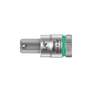 "Wera 8740 A HF Zyklop bit socket with holding function, 1/4"" drive (05003388001)"