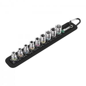 "Wera Belt A 4 Zyklop socket set, 1/4"" drive (05003883001)"