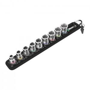 "Wera Belt B 1 Zyklop socket set with holding function, 3/8"" drive (05003970001)"