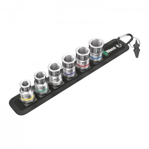 """Wera Belt C 1 Zyklop socket set with holding function, 1/2"""" drive (05003995001)"""