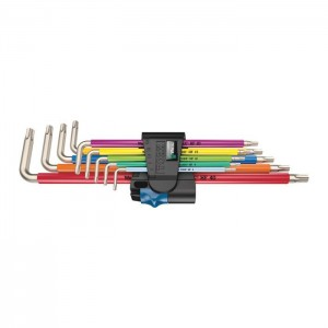 Wera 3967/9 TX SXL Multicolour HF Stainless 1 L-key set with holding function, stainless (05022689001)